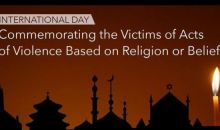 ON INTERNATIONAL DAY COMMEMORATING SURVIVORS OF RELIGIOUS PERSECUTION