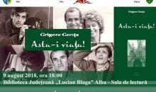 """Eveniment editorial la  Biblioteca Județeană ,,Lucian Blaga"""" Alba"""