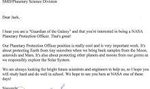 """Un copil de 9 ani a aplicat la NASA pentru postul de """"gardian al galaxiei"""""""